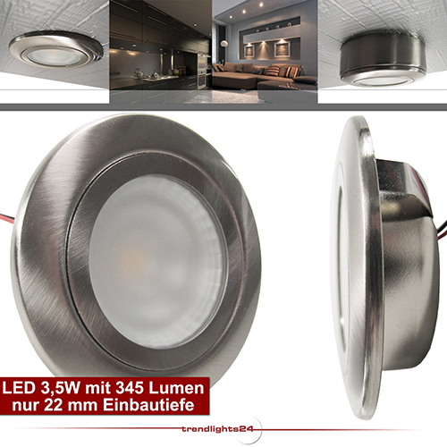 led 3 5w aufbau unterbau leuchte flach 12v 230v einbaustrahler 1 10x set salida ebay. Black Bedroom Furniture Sets. Home Design Ideas